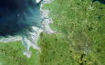 Elbe from space (© Brockmann Consult, Common Wadden Sea Secretariat (c) 2003)